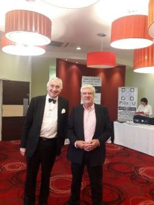 Our Chair Barry Waters here  with our Compere and prominent speaker Sir Henry Boyle