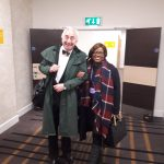 Sir Henry Boyle and one of our Directors Kamesha Stevenson arriving at the venue