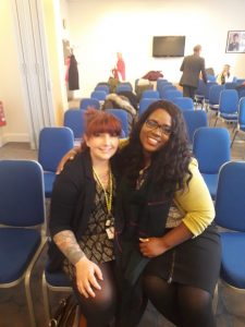 Our Director and Trainer Kamesha Stevenson and Cassie Searle (SDAA) before the conference