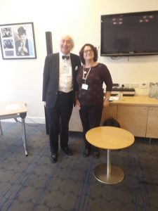 Sir Henry Boyle with Lo-Ann Lewis at our conference